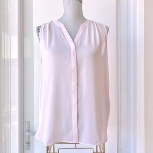 NYDJ Pink Pintuck Pleated Back Sleeveless Blouse